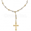 0207378 Gold Layered Hand Pearl Rosary