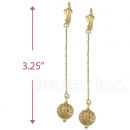 021003 Gold Layered Long Earrings