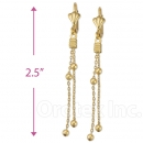 021014 Gold Layered Long Earrings
