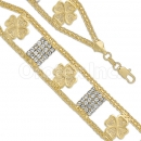 022003 Gold Layered CZ Bracelet