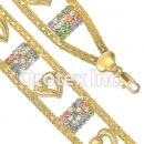 023005  Gold Layered CZ Bracelet