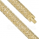 023006 Gold Layered Fancy W Bracelet