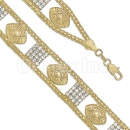 024009 Gold Layered CZ Bracelet