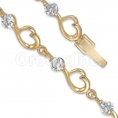 026008 Gold Layered CZ Bracelet