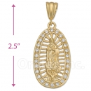 038003 Gold Layered CZ Charm