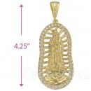 038005 Gold Layered CZ Guadalupe Charm