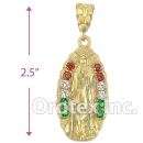 038007 Gold Layered Charm