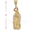 038010 Gold Layered CZ Charm