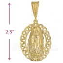 Oro Tex Gold Layered Charm