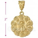 Oro Tex Gold Layered Diamond Cut Jesus Charm
