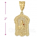 Oro Tex Gold Layered Diamond Cut St. Barbara Charm