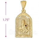 Oro Tex Gold Layered St. Barbara Charm