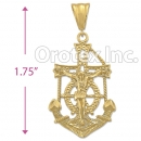 040001 Orotex Gold Layered Diamond Cut Charm