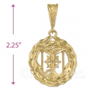 Oro Tex Gold Layered Diamond Cut Anchor Charm