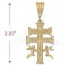 Oro Tex Gold Layered Caravaca Cross Charm