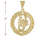 Oro Tex Gold Layered Diamond Cut Scorpion Charm