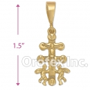 040023 Orotex Gold Layered Diamond Cut Charm