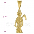 Oro Tex Gold Layered Santa Muerte Charm