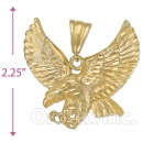 Oro Tex Gold Layered Diamond Cut Eagle Charm