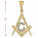 Oro Tex Gold Layered CZ Charm