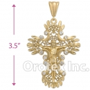 041010 Orotex Gold Layered Diamond Cut CZ Charm