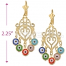 0418935 Gold Layered Eye Earrings