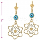 0418942 Gold Layered Eye Earrings