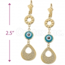 0419439 Gold Layered Eye Earrings