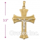 043001 Orotex Gold Layered Charm