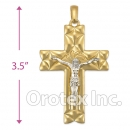 043002 Orotex Gold Layered Charm