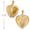 Orotex Gold Layered Heart Locket Charm