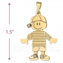 045026 Gold Layered CZ Boy Charm