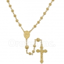 046005 Gold Layered Filigree Rosary