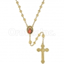047004 Gold Layered Diamond Cut  Rosary