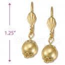 051014 Gold Layered Long Earrings
