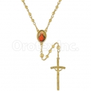 052004 Gold Layered Diamond Cut Rosary