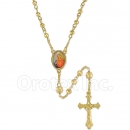 053002 Gold Layered Diamond Cut  Rosary