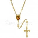 053004 Gold Layered Diamond Cut  Rosary