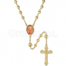 058006 Gold Layered Diamond Cut  Rosary