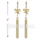 060002 Gold Layered CZ Long Earrings