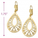 060009 Gold Layered Long Earrings