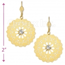 061001 Gold Layered CZ Long Earrings