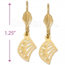 061011 Gold Layered Long Earrings