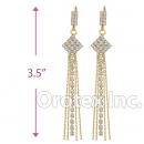 062008 Gold Layered CZ Long Earrings