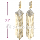 082012 Gold Layered CZ Long Earrings