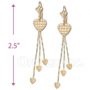 Oro Tex Gold Layered Long Earrings