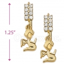 067018 Gold Layered CZ Earrings