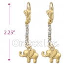 067020 Gold Layered CZ Long Earrings