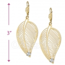 068006 Gold Layered CZ Long Earrings