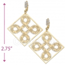 069003 Gold Layered CZ Long Earrings